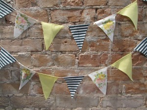 Bunting looks great in children's rooms, and is perfect for party decor!