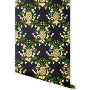 pineapple-ebony-wallpaper