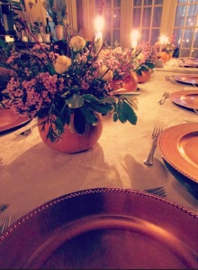 The Thanksgiving table.