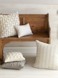 Cable pillows